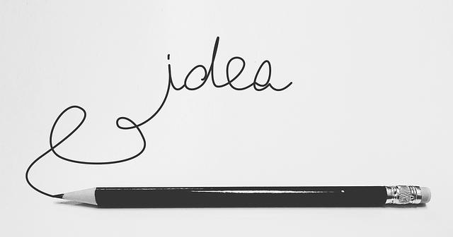 """Slovo """"myšlienka"""" napísané čiernym perom na bielom papieri.png"""